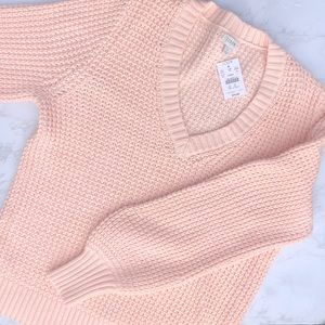 *NWT* J Crew Pink V Neck Sweater Large
